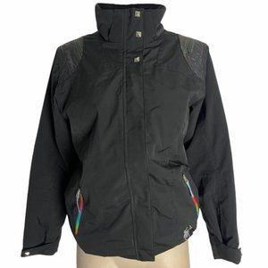 SPYDER Girls Black Jacket Colored Detail Stud 16
